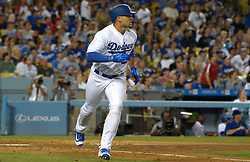 June 28, 2017 - Los Angeles, California, U.S. - Los Angeles Dodgers' Trayce Thompson during a Major League baseball game against the Los Angeles Angels at Dodger Stadium on Tuesday, June 27, 2017 in Los Angeles. (Photo by Keith Birmingham, Pasadena Star-News/SCNG) (Credit Image: © San Gabriel Valley Tribune via ZUMA Wire)