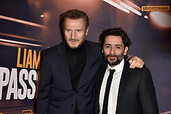 Jaume Collet-Serra, Liam Neeson attending 'The Passenger' Paris Premiere At Cinema UGC Normandie in Paris, France, on January 16, 2018. Photo by Alban Wyters/ABACAPRESS.COM
