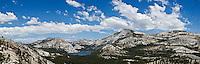 Tenaya lake and granite peaks seen from Olmsted point, Yosemite national park, California