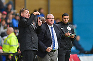 Peterborough United manager Steve Evans and Peterborough United assistant manager Paul Raynor giving instructions during the EFL Sky Bet League 1 match between Gillingham and Peterborough United at the MEMS Priestfield Stadium, Gillingham, England on 22 September 2018. Picture by Martin Cole