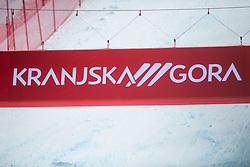 Sign of Kranjska Gora during second run at the Ladies' Slalom at 56th Golden Fox event at Audi FIS Ski World Cup 2019/20, on February 16, 2020 in Podkoren, Kranjska Gora, Slovenia. Photo by Matic Ritonja / Sportida
