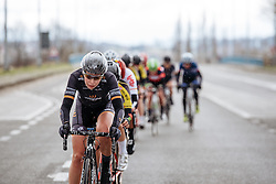 Amy Roberts looks to close the gap as rain starts to fall - Dwars door Vlaanderen 2016, a 103km road race from Tielt to Waregem, on March 23rd, 2016 in Flanders, Netherlands.
