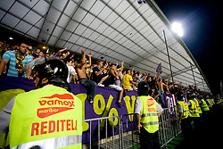Viole, Fans of Maribor at Third Round of Champions League qualifications football match between NK Maribor and FC Zurich,  on August 05, 2009, in Ljudski vrt , Maribor, Slovenia. Zurich won 3:0 and qualified to next Round. (Photo by Vid Ponikvar / Sportida)