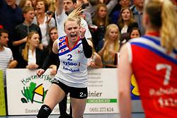 20150425 NED: Eredivisie VC Sneek - Eurosped, Sneek<br />Janieke Popma (2) of VC Sneek<br />©2015-FotoHoogendoorn.nl / Pim Waslander