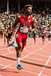 Penn Relays, USA vs the World, mens 4x400 relay, Bryce Spratling, USA