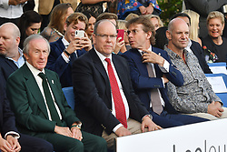 His Serene Highness Prince Albert of Monaco attends Amber Lounge UNITE 2018 in aid of Sir Jackie Stewart's foundation 'Race Against Dementia' at Le Meridien Hotel on May 25, 2018 in Monte-Carlo, Monaco. Photo by Laurent Zabulon/ABACAPRESS.COM