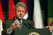 President Bill Clinton Press Conference US President Bill Clinton in the Amphitheater in the ITC Reagan Building.