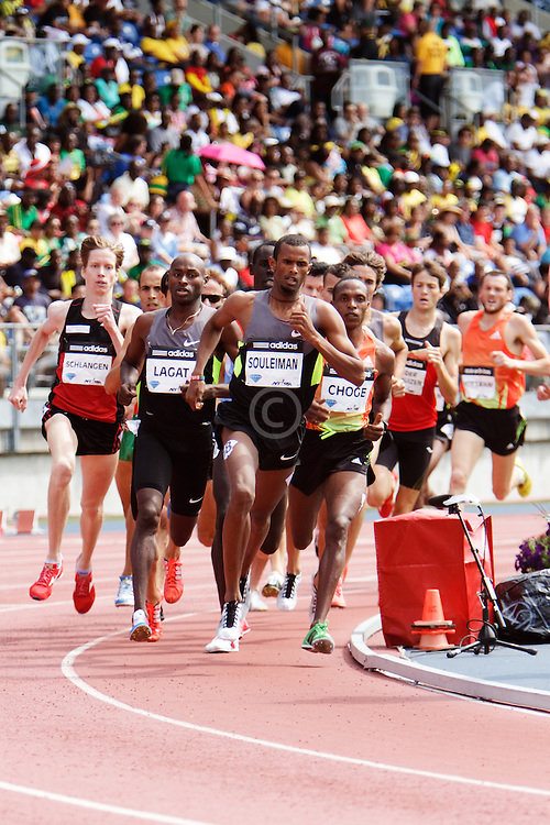 Samsung Diamond League adidas Grand Prix track & field; men's 1500 meters, Choge, Suleiman, Lagat, Schlangan,