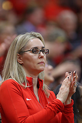 19 February 2017:  Melissa Muller during a College MVC (Missouri Valley conference) mens basketball game between the Loyola Ramblers and Illinois State Redbirds in  Redbird Arena, Normal IL