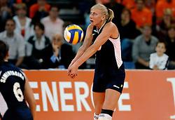 11-11-2007 VOLLEYBAL: PRE OKT: NEDERLAND - AZERBEIDZJAN: EINDHOVEN<br /> Nederland wint ook de de laatste wedstrijd. Azerbeidzjan verloor met 3-1 / Natalya Mammadova<br /> ©2007-WWW.FOTOHOOGENDOORN.NL