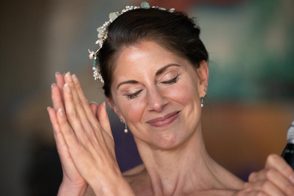 Joyous Bride During Reception  Lake Tahoe Wedding Photography Portfolio  South Lake Tahoe, California