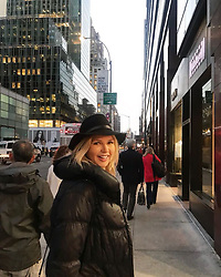 """Veronica Ferres releases a photo on Instagram with the following caption: """"Ich bin gerade in #NewYork - und auf dem Weg zur Probe f\u00fcr meinen neuen Film! \ud83c\udfac Ich bin soooo happy!! \ud83d\ude4c\ud83d\ude01 Genaueres gibt\u2019s bald f\u00fcr euch - wer freut sich schon? \ud83d\ude4b\ud83c\udffc\u200d\u2640\ufe0f\ud83c\udf89\n.\n.\n#NY #NYC #usa #businesstrip #usatrip #triptonewyork #travel #job #wiw #nycity #amazingcity #newyork_ig #ig_nyc #ig_unitedstates #streetphotography #america #potd"""". Photo Credit: Instagram *** No USA Distribution *** For Editorial Use Only *** Not to be Published in Books or Photo Books ***  Please note: Fees charged by the agency are for the agency's services only, and do not, nor are they intended to, convey to the user any ownership of Copyright or License in the material. The agency does not claim any ownership including but not limited to Copyright or License in the attached material. By publishing this material you expressly agree to indemnify and to hold the agency and its directors, shareholders and employees harmless from any loss, claims, damages, demands, expenses (including legal fees), or any causes of action or allegation against the agency arising out of or connected in any way with publication of the material."""