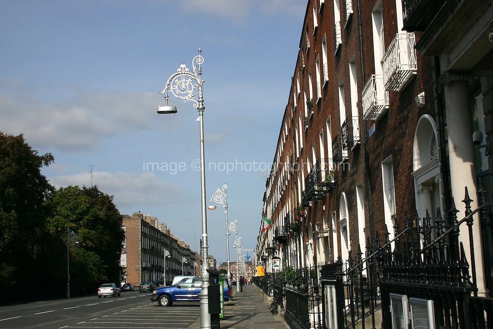 Georgian buildings on Fitzwilliam street Dublin Ireland