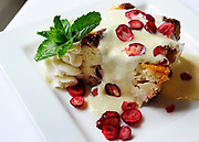 SANDWICH -- 071811 --The Apple Cranberry Bread Pudding at the Dan'l Webster Inn.  Cape Cod Times/Christine Hochkeppel 071811ch04