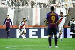 November 3, 2018 - Madrid, MADRID, SPAIN - Alvaro of Rayo celebrates the goal during the Spanish Championship, La Liga, football match between Rayo Vallecano and FC Barcelona on November 03th, 2018 at Estadio de Vallecas in Madrid, Spain. (Credit Image: © AFP7 via ZUMA Wire)
