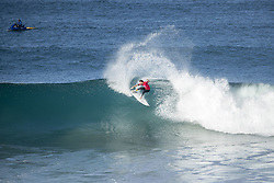 July 19, 2017 - Rookie Frederico Morais of Portugal advanced to the semifinals of the Corona Open J-Bay after defeating reigning World Champion John John Florence of Hawaii in Quarterfinal Heat 2 in pumping overhead conditions at Supertubes, Jeffreys Bay, South Africa...Corona Open J-Bay, Eastern Cape, South Africa - 19 Jul 2017. (Credit Image: © Rex Shutterstock via ZUMA Press)