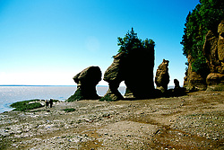 Canada, New Brunswick, the Hopewell Rocks, the highest tides   .Photo: cnbrun102.Photo Copyright: Lee Foster, 510-549-2202, lee@fostertravel.com, www.fostertravel.com