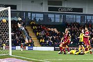 Burton Albion forward Lucas Akins (10) scores a goal 1-0 during the EFL Sky Bet League 1 match between Burton Albion and Bradford City at the Pirelli Stadium, Burton upon Trent, England on 26 January 2019.