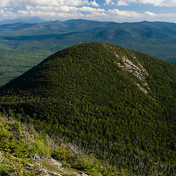 View of South Percy Peak from the summit of North Percy Peak in Stratford, New Hampshire.  Nash Stream State Forest. Cohos Trail.