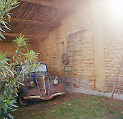 Rusted vintage car, Provence-Alpes-Cote-D'Azur region, France