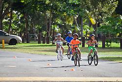 """""""Run, Bike, Swim"""" the Rotary Sunrise Kids Triathalon at Magens Bay.  St. Thomas, USVI.  11 April 2015.  © Aisha-Zakiya Boyd"""