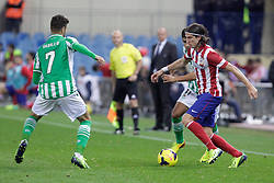 27.10.2013, Estadio Vicente Calderon, Madrid, ESP, Primera Division, Atletico Madrid vs Real Betis, 10. Runde, im Bild Atletico de Madrid's Filipe Luis (R) // Atletico de Madrid's Filipe Luis (R) during the Spanish Primera Division 10th round match between Club Atletico de Madrid and Real Betis at the Estadio Vicente Calderon in Madrid, Spain on 2013/10/28. EXPA Pictures © 2013, PhotoCredit: EXPA/ Alterphotos/ Victor Blanco<br /> <br /> *****ATTENTION - OUT of ESP, SUI*****