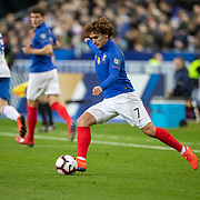 PARIS, FRANCE - March 25:  Antoine Griezmann #7 of France in action during the France V Iceland, 2020 European Championship Qualifying, Group Stage at  Stade de France on March 25th 2019 in Paris, France (Photo by Tim Clayton/Corbis via Getty Images)