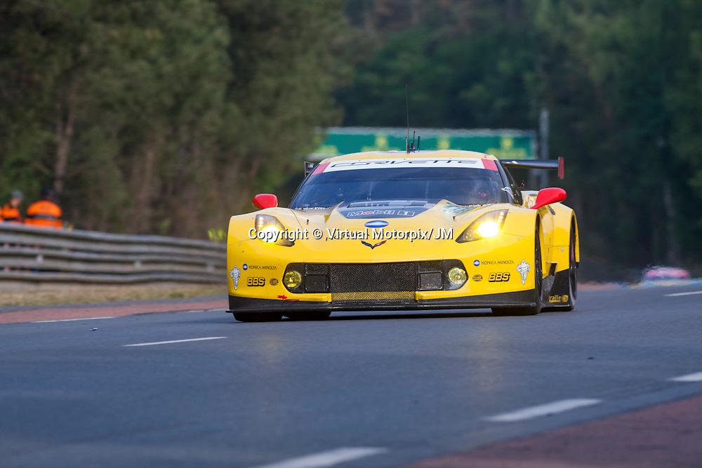 #63 Corvette C7.R, Corvette Racing, Ryan Briscoe, Antonio Garcia, Jan Magnussen, Le Mans 24H 2015
