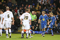Photo: Pete Lorence/Sportsbeat Images.<br />Peterborough United v Milton Keynes Dons. Coca Cola League 2. 15/12/2007.<br />Drissa Diallo is sent off.