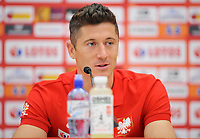 ARLAMOW, POLAND - MAY 30: Robert Lewandowski during press conference at Arlamow Hotel during the second phase of preparation for the 2018 FIFA World Cup Russia on May 30, 2018 in Arlamow, Poland. MB Media