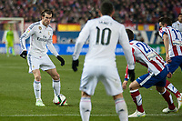 Atletico de Madrid's Saul and Lucas and Real Madrid's Gareth Bale during 2014-15 Spanish King Cup match at Vicente Calderon stadium in Madrid, Spain. January 07, 2015. (ALTERPHOTOS/Luis Fernandez)