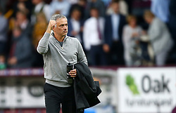 Manchester United manager Jose Mourinho reacts after the final whistle