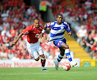 Bristol City/Queens Park Rangers Championship 30.08.08 <br /> Photo: Tim Parker Fotosports International<br /> Nicky Maynard Bristol City & Mikele Leigertwood QPR