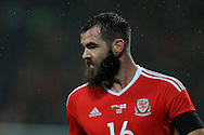 Joe Ledley of Wales looks on. Wales v Northern Ireland, International football friendly match at the Cardiff City Stadium in Cardiff, South Wales on Thursday 24th March 2016. The teams are preparing for this summer's Euro 2016 tournament.     pic by  Andrew Orchard, Andrew Orchard sports photography.