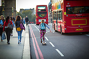Photos © Joel Chant <br /> Street photos, Skateboarder, Westminster Bridge, London