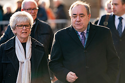 Edinburgh, Scotland, UK. 18 March, 2020.  Alex Salmond leaves the High Court in Edinburgh after the eighth day of his trial.  Iain Masterton/Alamy Live News