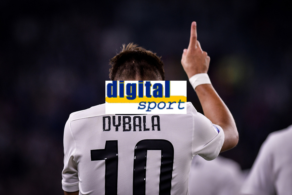 Paulo Dybala celebrates scoring. Esultanza gol <br /> Torino 26-09-2018 Allianz Stadium Football Calcio Serie A 2018/2019 Juventus - Bologna  <br /> Foto OnePlusNine / Insidefoto