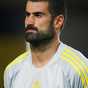 Fenerbahce's goalkeeper Volkan Demirel during the UEFA Champions League Play-Offs First leg soccer match Fenerbahce between Arsenal at Sukru Saracaoglu stadium in Istanbul Turkey on Wednesday 21 August 2013. Photo by Aykut AKICI/TURKPIX