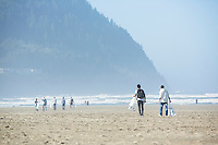Annual beach cleanup. Seaside, Oregon