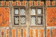 Tudor window and brickwork - The Old Town Hall, Aldeburgh , Suffolk, England