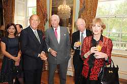 A party to promote the exclusive Puntacana Resort & Club - the Caribbean's Premier Golf & Beach Resort Destination, was held at Spencer House, London on 13th May 2010.<br /> <br /> Picture shows:- Left to right, MRS FRANK RAINIERI, OSCAR DE LA RENTA, RUPERT HAMBRO, LORD ROTHSCHILD and VIRGINIA FRASER