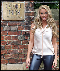 Katie Price at the Oxford Union