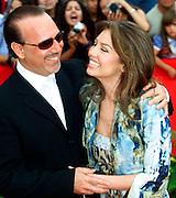 Tommy Matula and Thalia at the 2000 Latin Billboard Awards in Miami Beach, Florida. Colin Braley-Photo