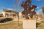 Exterior of the Albuquerque Museum and sculpture garden in Albuquerque, New Mexico.