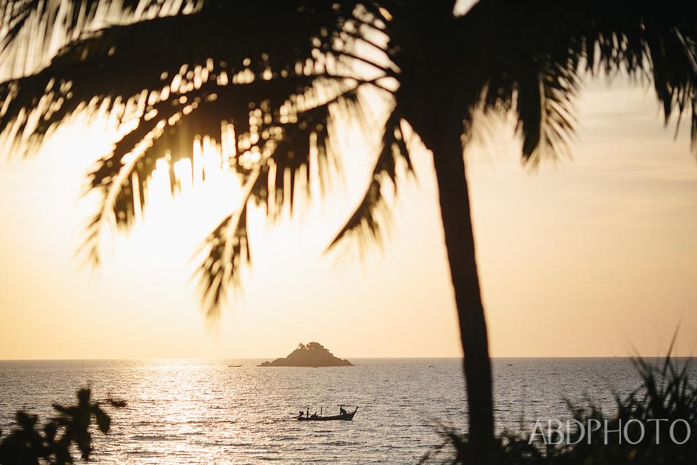 beach sunset at Trisara resort Phuket Thailand