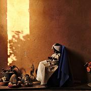 A Santeria shrine inside a house in Trinidad