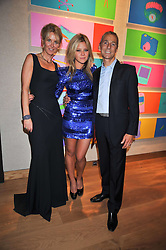 Left to right, the MARCHIONESS OF BUTE, her daughter JAZZY DE LISSER and the MARQUESS OF BUTE at fundraising dinner and auction in aid of Liver Good Life a charity for people with Hepatitis held at Christies, King Street, London on 16th September 2009.