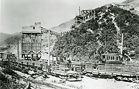 1909 The Union Rock Quarry, in Brush Canyon, which later became the Bronson Caves at the north end of Bronson Ave.