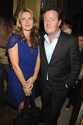 PIERS MORGAN and CELIA WALDEN at the engagement party of Vanessa Neumann and William Cash held at 16 Westbourne Terrace, London W2 on 15th April 2008.<br />