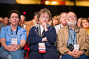 27 FEBRUARY 2011 - PHOENIX, AZ: People listen to speakers at the Tea Party Patriots American Policy Summit in Phoenix Sunday, the last day of the conference. About 2,000 people were expected to attend the event, which organizers said was meant to unite Tea Party groups across the country. Speakers included former Minnesota Governor Tim Pawlenty, Texas Congressman Ron Paul, former Clinton advisor Dick Morris and conservative blogger Andrew Brietbart. The event ended with a presidential straw poll, which was won by Herman Cain, a newspaper columnist from Atlanta, GA.     Photo by Jack Kurtz